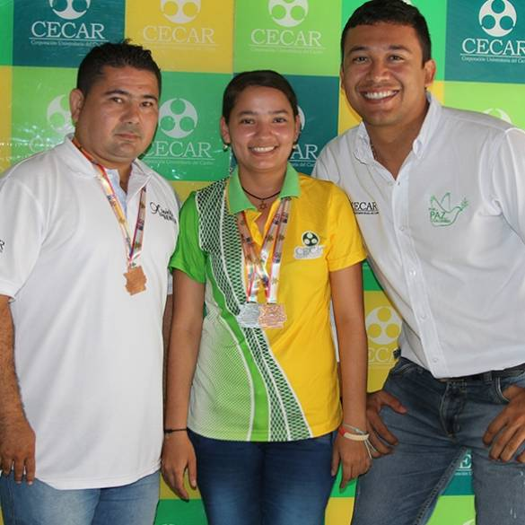 CECAR ganó 6 medallas de plata y 9 de bronce en los Juegos Ascún