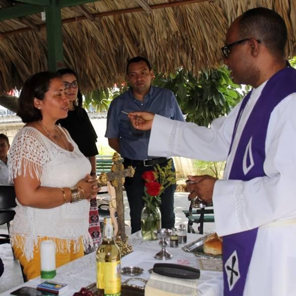 Centros de proyección social participan en eucaristía