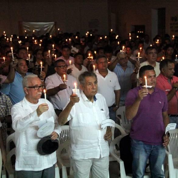 CECAR Extensión Montería encendió velas a favor de la paz